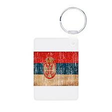 Serbia Flag Keychains
