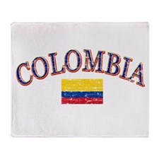Colombia Soccer designs Throw Blanket