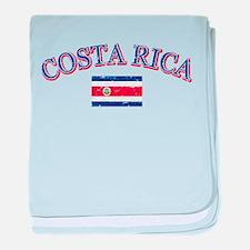 Costa Rica Soccer designs baby blanket