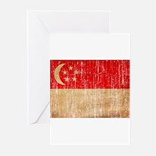 Singapore Flag Greeting Cards (Pk of 10)