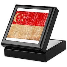 Singapore Flag Keepsake Box