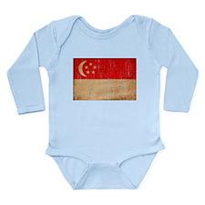 Singapore Flag Onesie Romper Suit