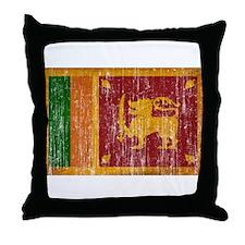 Sri Lanka Flag Throw Pillow