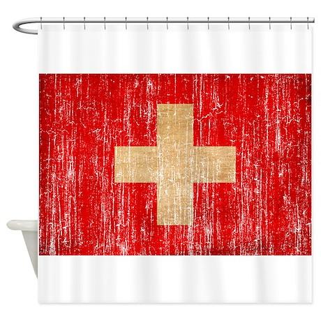 Switzerland Flag Shower Curtain