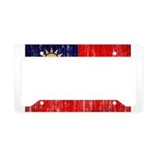 Taiwan Flag License Plate Holder