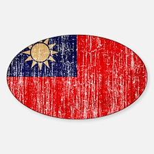 Taiwan Flag Sticker (Oval)