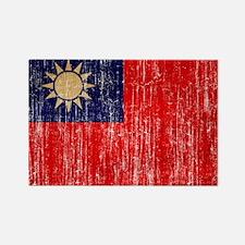 Taiwan Flag Rectangle Magnet