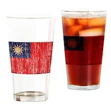 Taiwan Flag Drinking Glass
