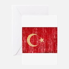 Turkey Flag Greeting Card