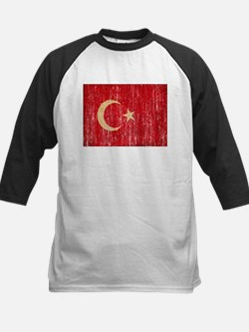 Turkey Flag Kids Baseball Jersey