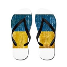 Ukraine Flag Flip Flops