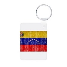 Venezuela Flag Aluminum Photo Keychain