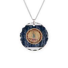 Virginia Flag Necklace