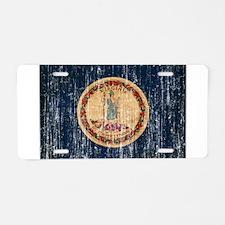 Virginia Flag Aluminum License Plate