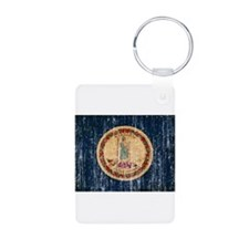Virginia Flag Keychains