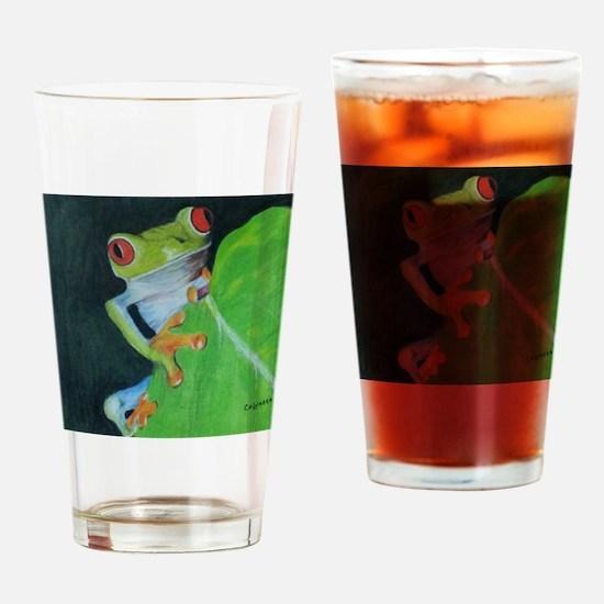 Peekaboo Tree Frog Drinking Glass