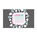 Women for Obama Inked 35x21 Wall Decal