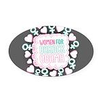 Women for Obama Inked Oval Car Magnet