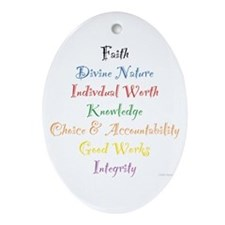 Young Women Values Oval Ornament