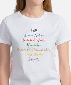 Young Women Values Women's T-Shirt