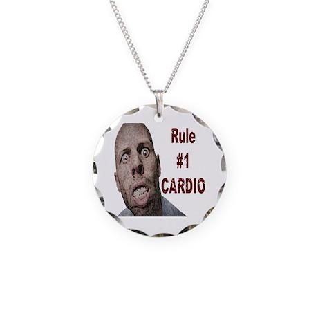 Zombie Cardio Necklace Circle Charm