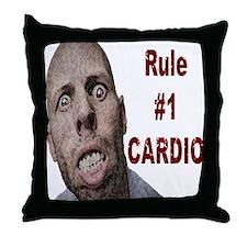 Zombie Cardio Throw Pillow