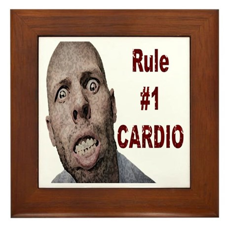 Zombie Cardio Framed Tile
