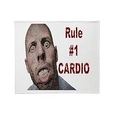 Zombie Cardio Throw Blanket