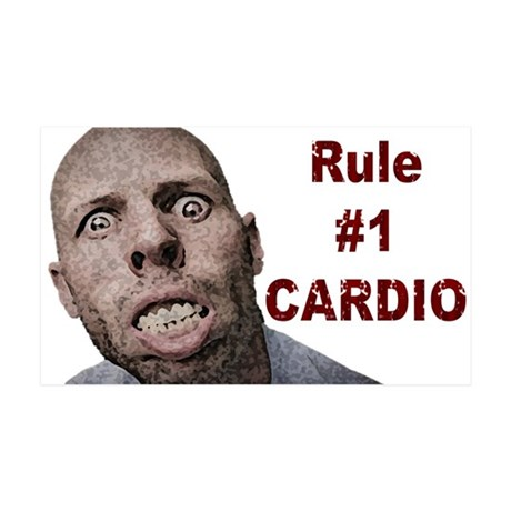 Zombie Cardio 35x21 Wall Decal