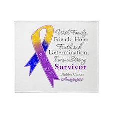 Bladder Cancer Strong Survivor Throw Blanket