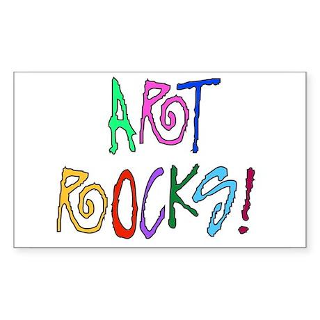 Art Rocks Rectangle Sticker