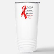 Blood Cancer Strong Survivor Travel Mug