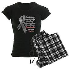 Brain Cancer Strong Survivor Pajamas