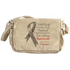 Brain Cancer Strong Survivor Messenger Bag
