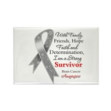 Brain Cancer Strong Survivor Rectangle Magnet