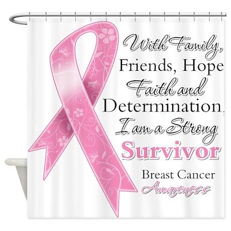 Breast Cancer Strong Survivor Shower Curtain