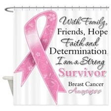 Breast Cancer Strong Survivor Shower Curtain