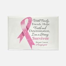 Breast Cancer Strong Survivor Rectangle Magnet