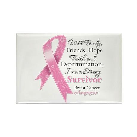 Breast Cancer Strong Survivor Rectangle Magnet (10