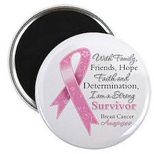 "Breast Cancer Strong Survivor 2.25"" Magnet (100 pa"