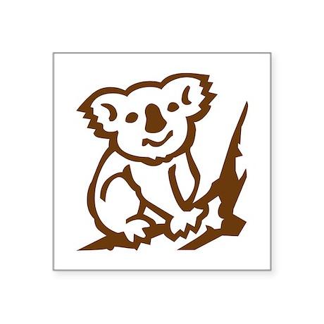 "Koala Square Sticker 3"" x 3"""