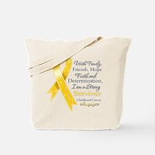 Survivor Childhood Cancer Tote Bag