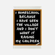 I Homeschool Too Rectangle Magnet