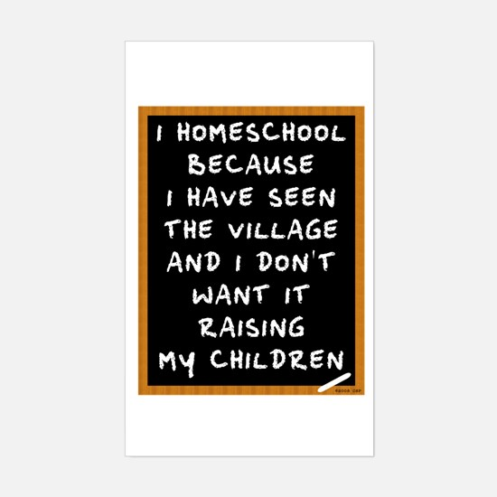 I Homeschool Too Sticker (Rectangle)