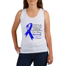 Colon Cancer Strong Survivor Women's Tank Top