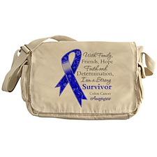 Colon Cancer Strong Survivor Messenger Bag
