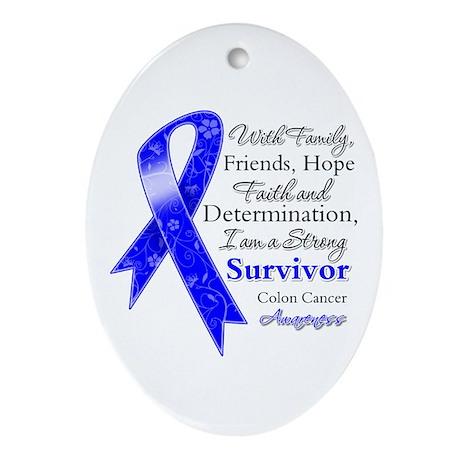 Colon Cancer Strong Survivor Ornament (Oval)