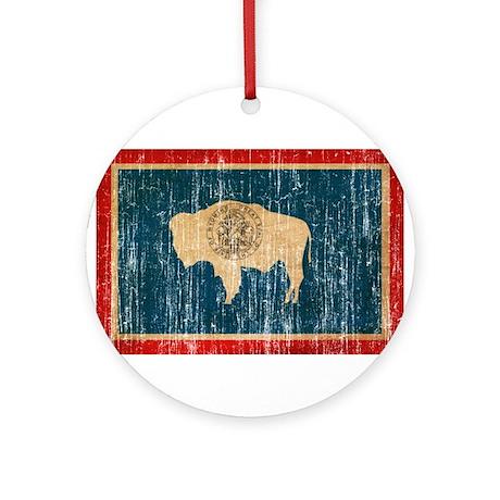 Wyoming Flag Ornament (Round)