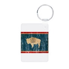 Wyoming Flag Keychains