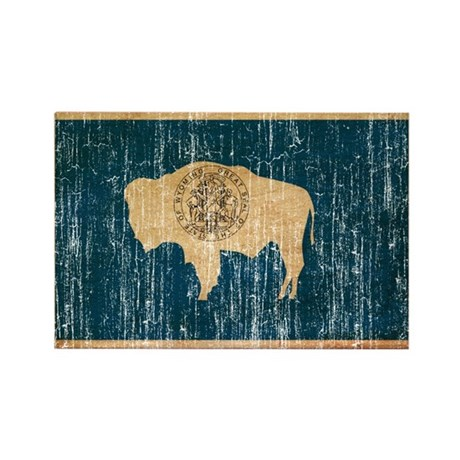 Wyoming Flag Rectangle Magnet (100 pack)